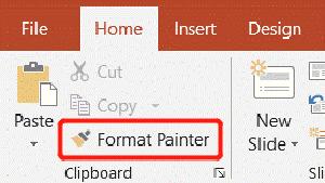 Pittore di formato home di Microsoft PowerPoint