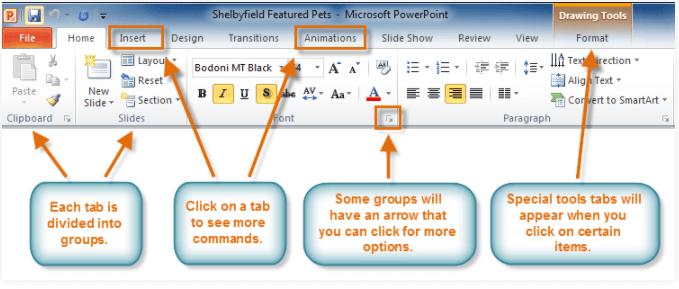 Microsoft PowerPoint Ribbon