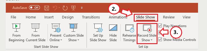 Microsoft PowerPoint-Diashow Datensatz-Diashow