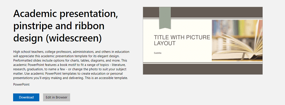 Akademische Präsentation der Microsoft PowerPoint-Vorlage