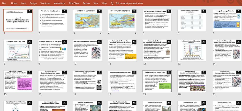 Microsoft PowerPoint View Slide Sorter