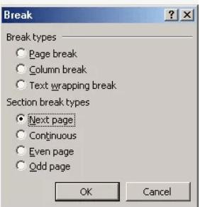 Descanso de Microsoft Word 2003