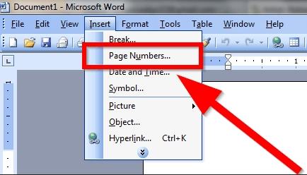 Microsoft Word 2003 Insertar números de página