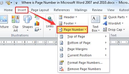 Microsoft Word 2007 Insertar número de página