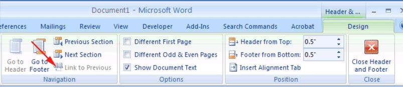 Microsoft Word 2007 Enlace a la anterior