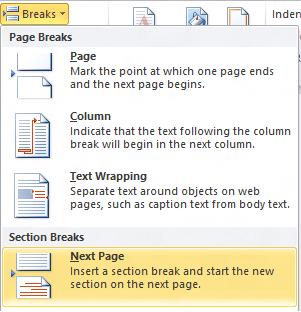 Microsoft Word 2010 rompe la página siguiente