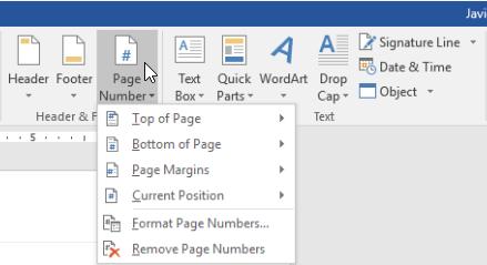 Microsoft Word 2016 Insertar número de página
