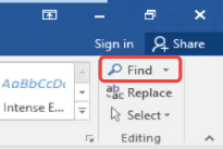 Microsoft Word Find Icon