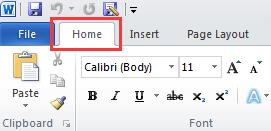 Inicio de Microsoft Word