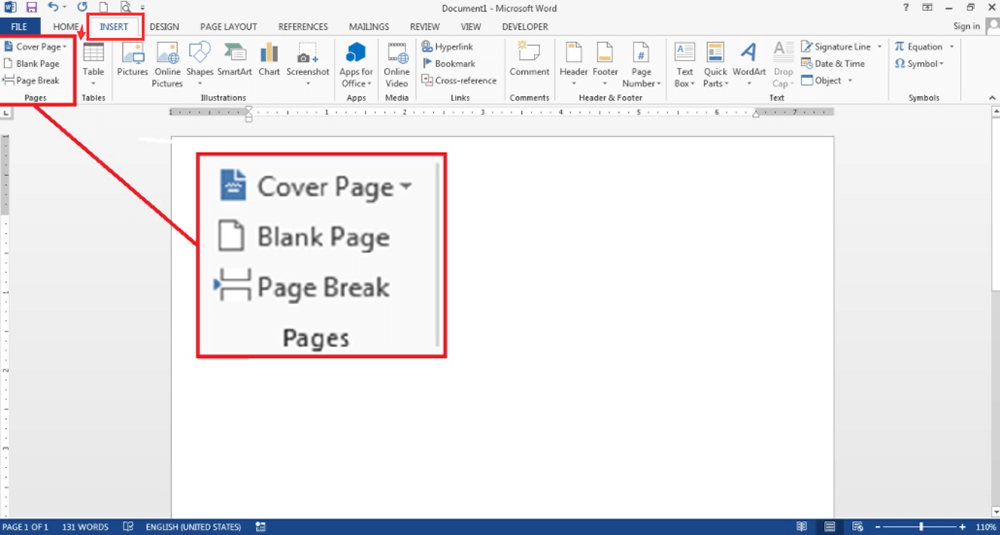 Microsoft Word Insert Pages