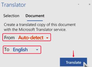 Microsoft Word Translator Translate