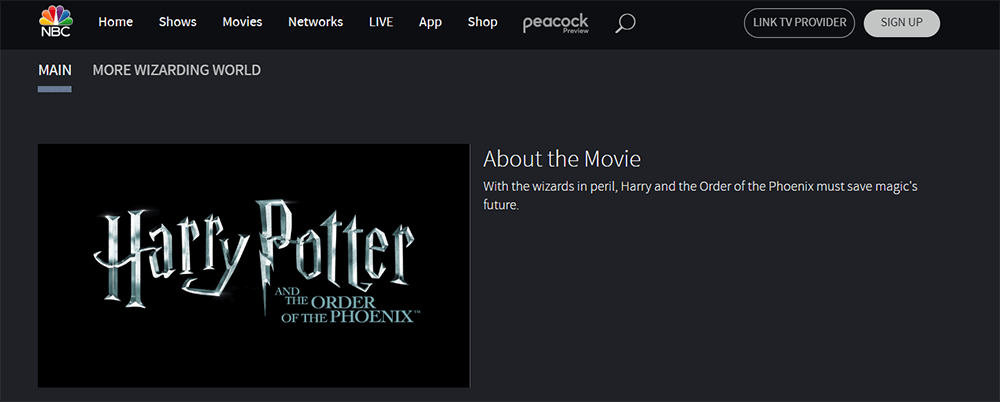 NBC Harry Potter and the Order of the Phoenix