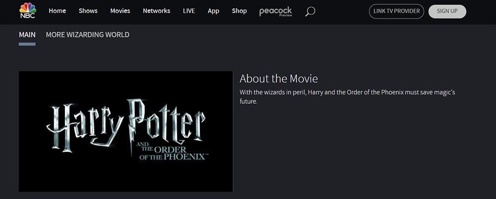 NBC Harry Potter und der Orden des Phönix