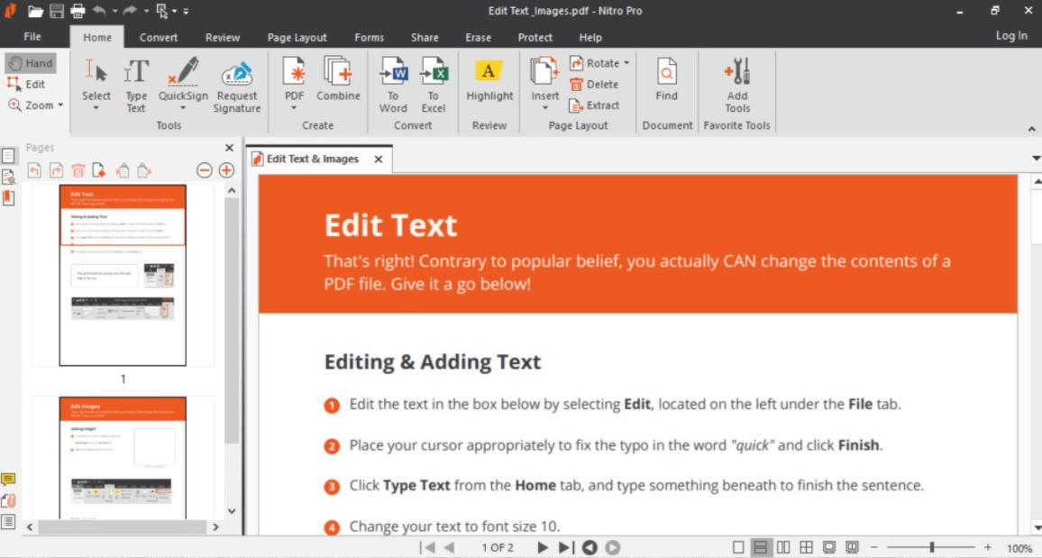 Nitro PDF Editor