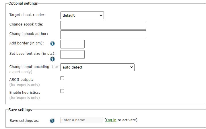 Impostazione Online-Convert