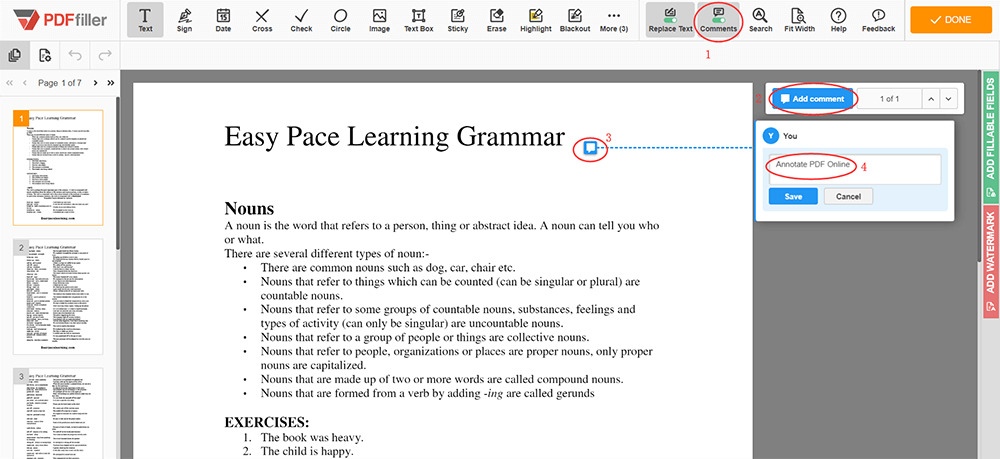 Online PDF Annotator Add Annotation