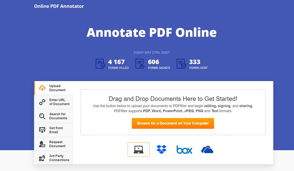 온라인 PDF Annotator PDF 업로드