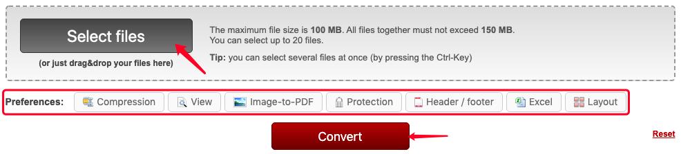 ONLINE2PDF ODT a PDF