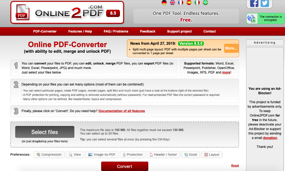 Smallpdf Alternatives Online2PDF