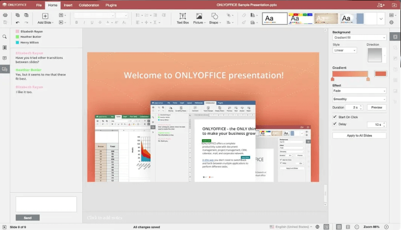 OnlyOffice-Präsentation