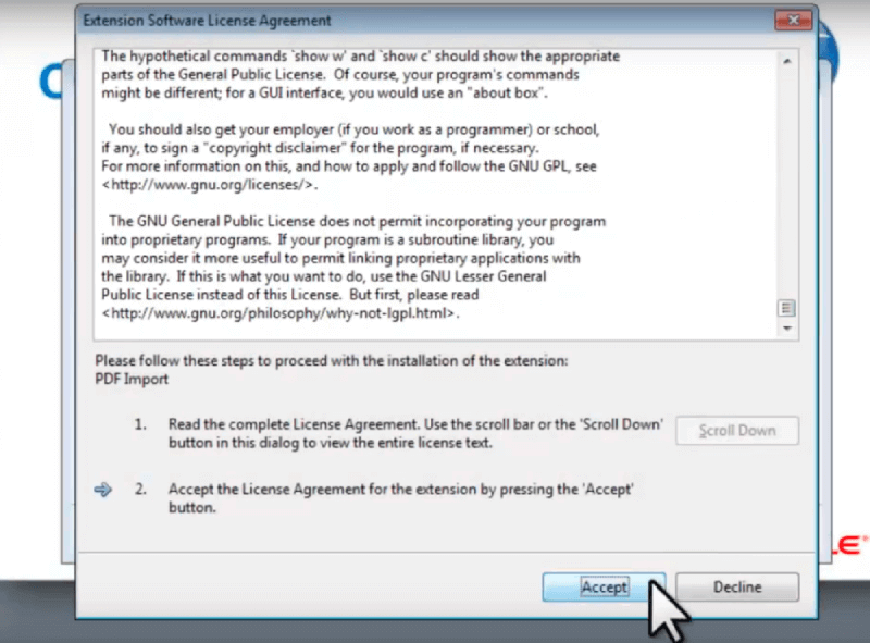 Open Office Extension Software License Agreement