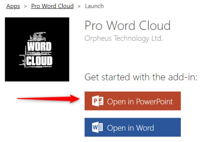 Öffnen Sie die Pro Word Cloud