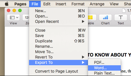 Pages File Export To Word