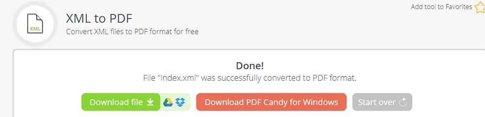 PDF Candy XML to PDF Download