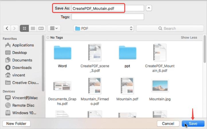 PDFelement Guardar como PDF