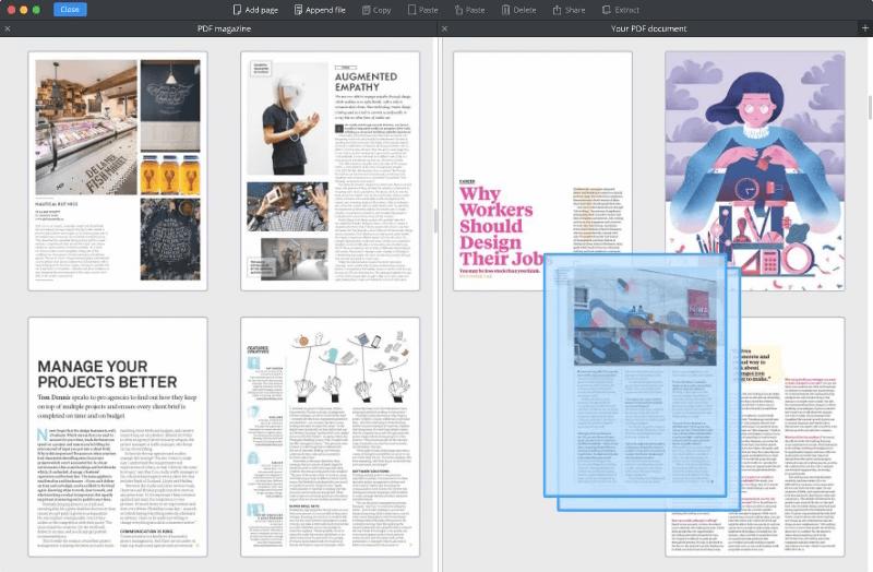PDF Expert Combine PDF Pages