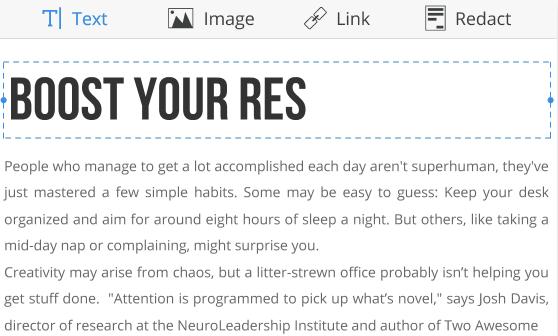 PDF Expert Editing Text