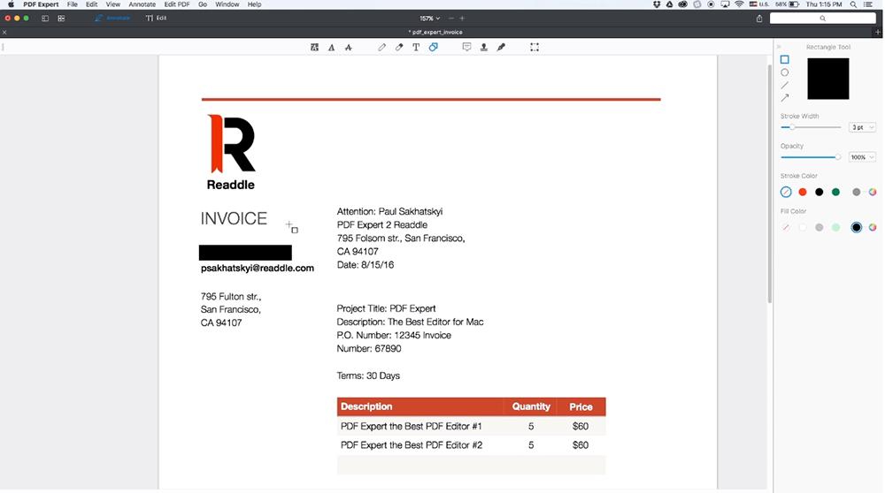 PDF Redacción de PDF Expert PDF