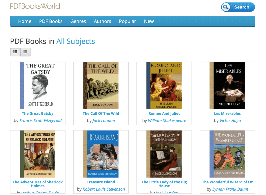 DFBooksWorld Homepage