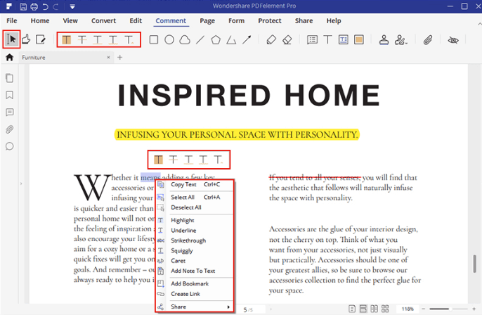 PDFelement Annotate PDF