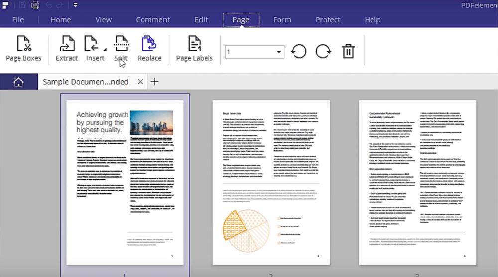 PDFelement Page Split