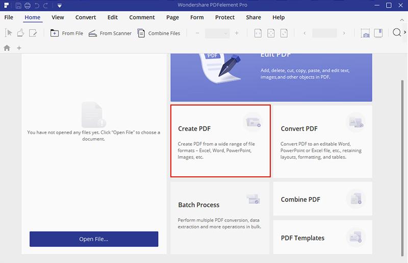PDFelement Pro Create PDF