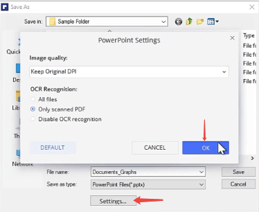 PDFelement 7 Convert To PPT Settings