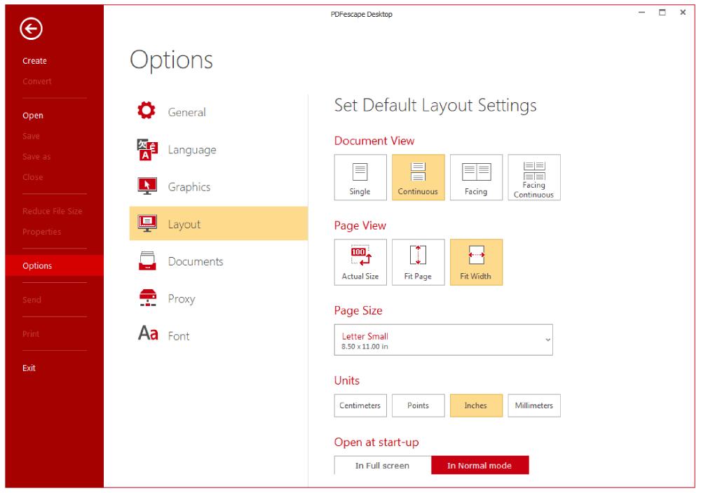 Interfaccia desktop PDFescape
