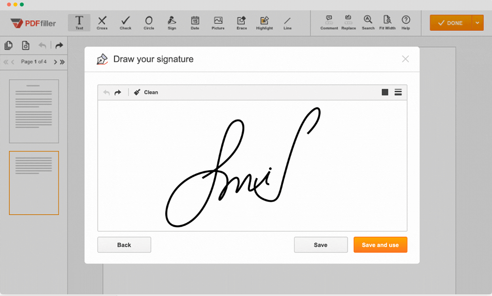 PDFfiller Sign PDF Create A Signature