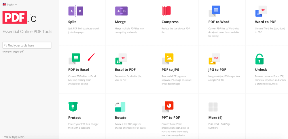 PDF.io PDF to Excel Converter