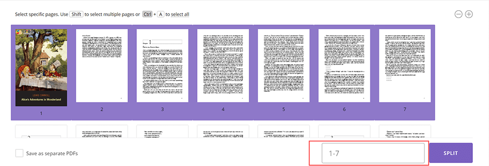 PDFio Split PDF Delete