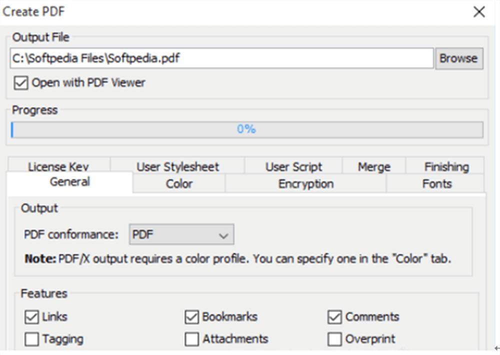 PDFreactor Convertir archivo