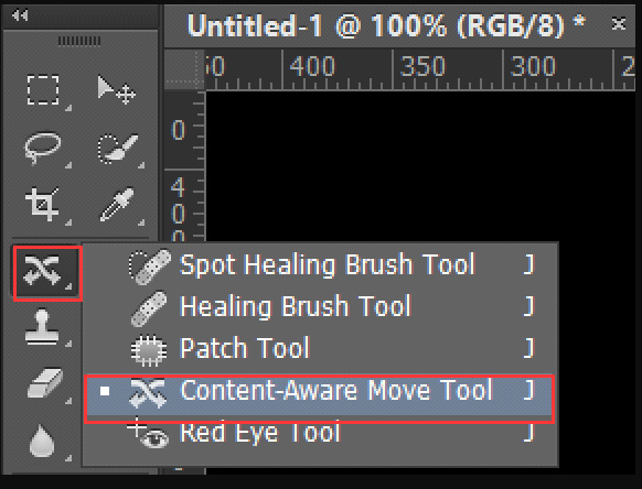 Photoshop Content Aware Move Werkzeug