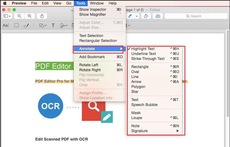 PDF 주석 Preview