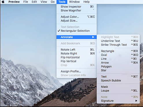 Preview Tools Annotate