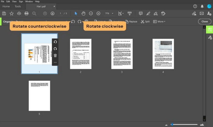 Rotate PDF Pages in Adobe Acrobat DC