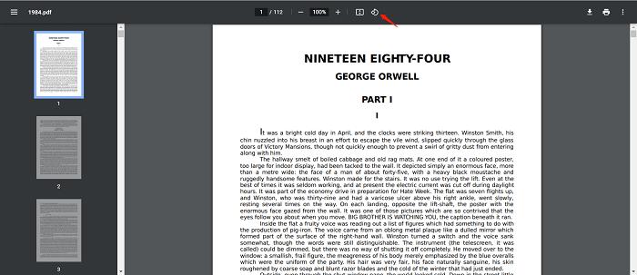 Rotate PDF Temporarily in Google Chrome
