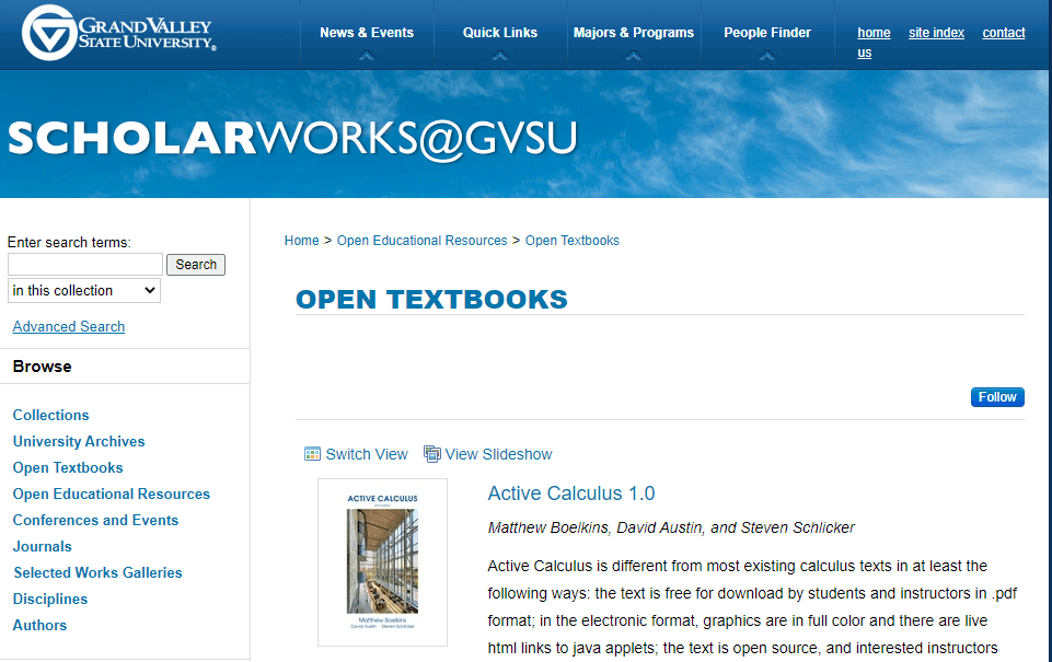 ScholarWorks 오픈 교과서