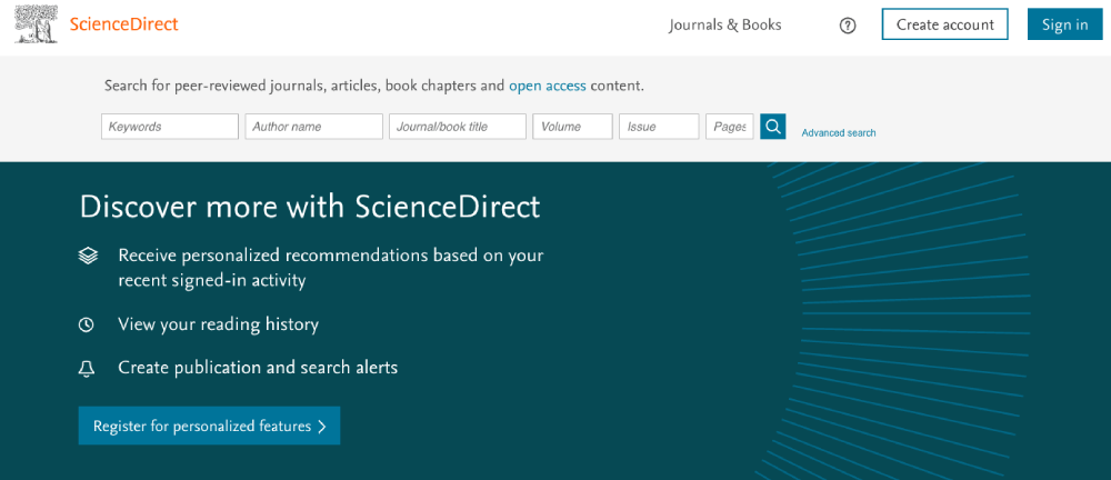 ScienceDirect Homepage