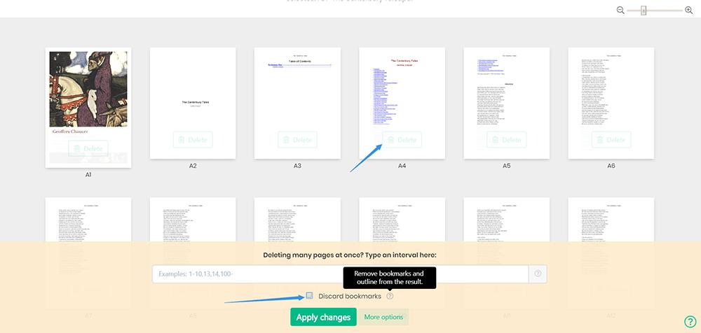 Sejda Delete PDF Pages